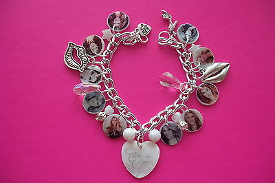 Celine Dion photo charm bracelet. new free gift bag. perfect gift