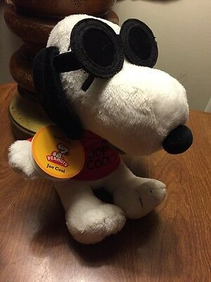 "Hallmark Peanuts Snoopy ""Joe Cool"" in a Red Shirt with Sunglasses 8"" Plush"