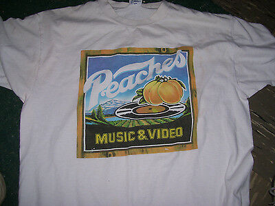 Peaches Records And Tapes Vintage 70's Rock Shirt Large Super Shape