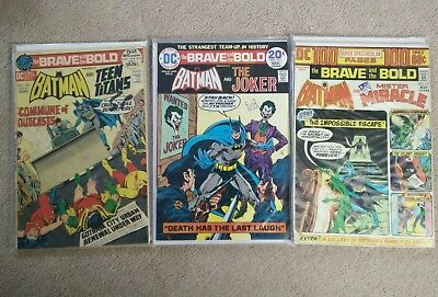 VINTAGE SILVER AGE Brave and The Bold #102, #111, #112