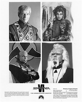 1991's STAR TREK VI: UNDISCOVERED COUNTRY original b/w 8x10 character four-shot