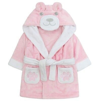 "BABY/TODDLER GIRL CUTE ""TEDDY"" DRESSING GOWN. 6-24m"