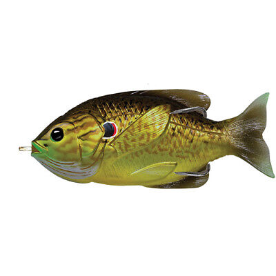 "Live Target Fishing  Lure-Sunfish, Hollow 3 1/2"" Topwater 4/0 Bronze/Pumpkinseed"