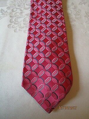 TOMMY HILFIGER Satin Silk Neck Tie Classic Style ~ Pink /& Sunfish Prints ~ NEW