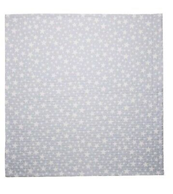 Cambrass Bouti Cot Bedspread/Blanket/Cover/Quilt  80 x 80 cm, Star Blue