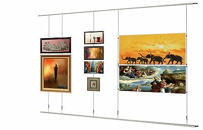 window picture hanging system shop window displays top bottom rail 2M KIT