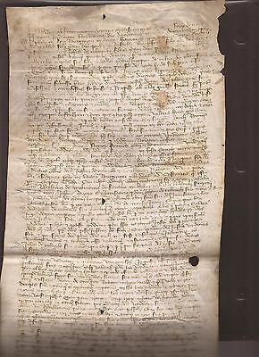 Antique Manuscrip Notary Document 1410 Signed by Christofer Columbus Brothers