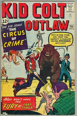 Kid Colt Outlaw #106, Jack Kirby, the Circus of Crime