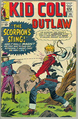 Kid Colt Outlaw #115, Jack Kirby, the Scorpion