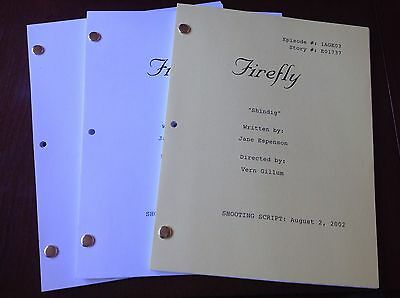 "FIREFLY TV Series Script ""SHINDIG"" EPISODE NATHAN FILLION 8/2/2002"