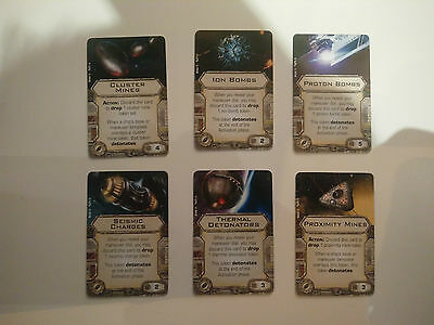 Star Wars X-Wing Upgrade Cards - Bombs