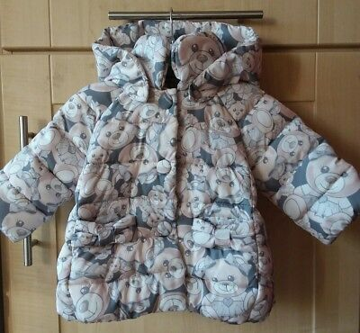 monnalisa teddy bear print puffer jacket..coat