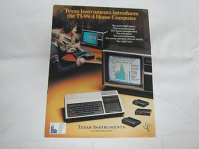 Vintage 1979 Brochure Introducing TI-99/4 Home Computer from Texas Instruments