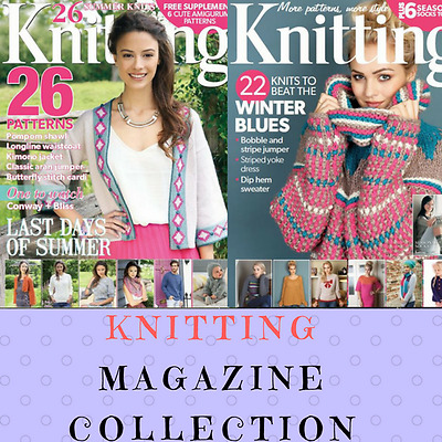Classic Knitting Magazines Collection - 73 Rare Vintage Magazines on Data DVD