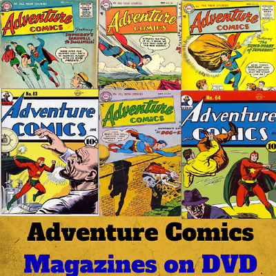Golden Age Adventure Comics ~ 375 Vintage Rare E-Comics On 1 Dvd Free Sample!!!