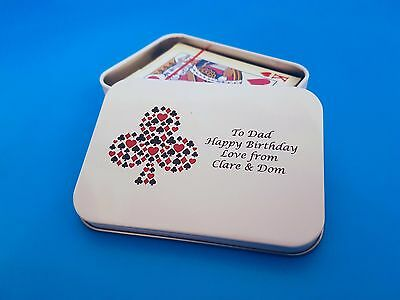 Personalised Playing Card Gift Tin - With Playing Cards