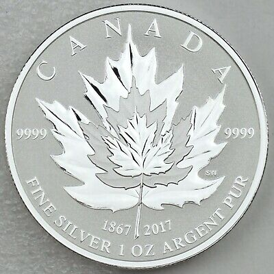 Canada 2017 Maple Leaf Pure Silver 4-Coin Fractional Set - Reverse Proofs