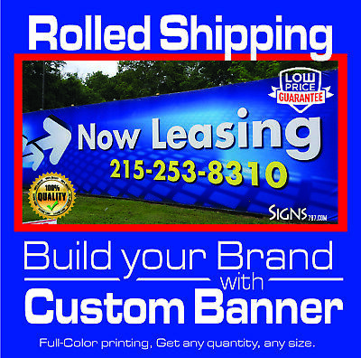 2 x 8 Custom Vinyl Banner 13oz Full Color - Free Design Included