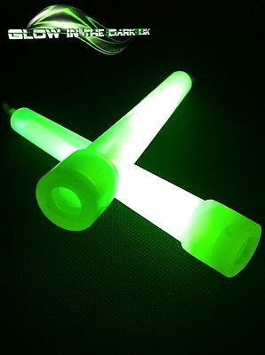 """5 Green 6"""" Glow Sticks Foil Wrapped Festivals Parties 8 Great Colours"""