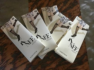 Nordstrom Brand Plus Size Knee Highs In Black, 3 Pair In A Package