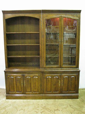 """Ethan Allen """"Classic Manor"""" Library Units; Exceptional Condition - Two Piece Set"""