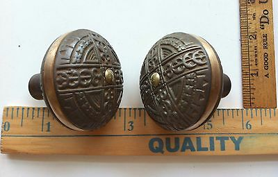 Antique Victorian Era Door Lock Knobs Very Ornate NICE ONES