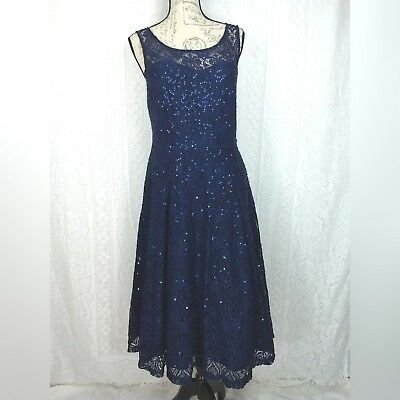 Vintage Beaded Cocktail Dress Plus Cruise Mother Of Bride Black Gold