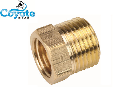 "5 Pack Lot Size: 1/2"" x 1/4"" Brass Reducing Bushing Fitting Quantity Fittings"