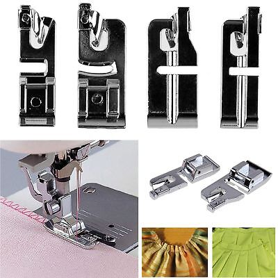 2pcs 3mm + 6mm Narrow Rolled Hem Presser Foot for Domestic Sewing Machine Tools
