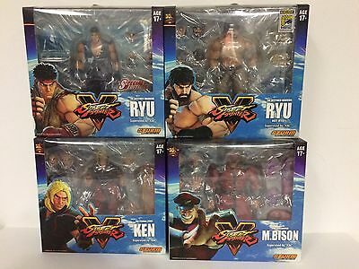 Lot Of 4X Storm Collectibles Street Fighter Sf Sdcc 2017 Ryu + Ryu + Bison +Ken