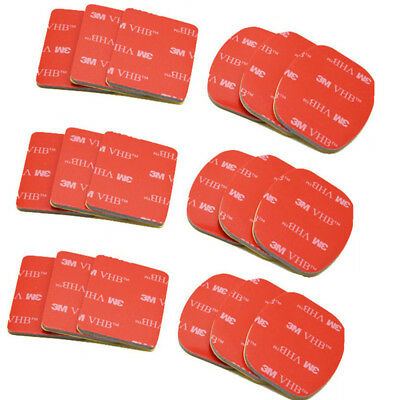 18pcs 3M Sticker Red Set for Gopro hero2 3 helmet Mount VHB Adhesive Sticky