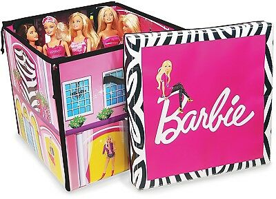 Barbie Zipbin Dream House Girls Fun Play Dolls and Accessories Storage Box
