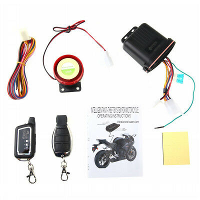 LCD 2-Way Moto Alarm Remote Control Keyless Entry Anti-theft Security System New