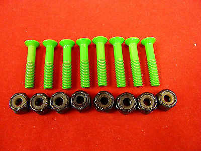 GREEN Phillips Skateboard Hardware 1""