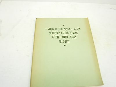 1922-1933 Study of the Physical Assets of the US BL38-4