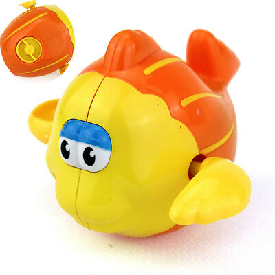 Lovely Cartoon Swimming Fish Shaped Baby Kids Bath Toy Wind Up Toy Kid Gifts