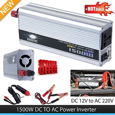 200W /1500W Car DC 12V to AC 220V Power Inverter Charger Converter EZ