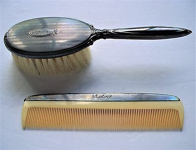 Vintage Birks Sterling Silver Child's Hair Brush and Comb