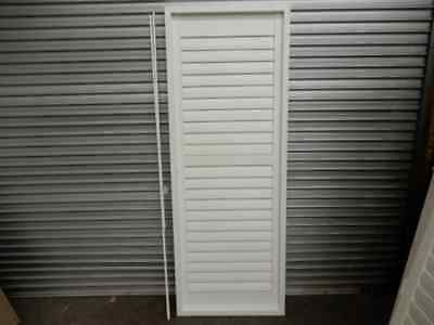 PLANTATION SHUTTER X 1 SINGLE WHITE TIMBER WITH FRAME, 10g