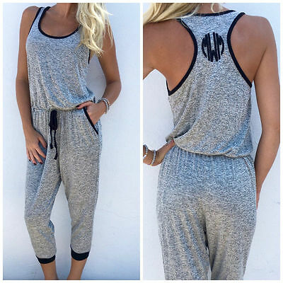 New Style Women Sleeveless Jumpsuit Ladies Summer Casual Loose Playsuit