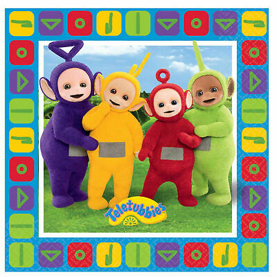 Teletubbies Lunch Napkins 33cm pack of 16 by AMSCAN