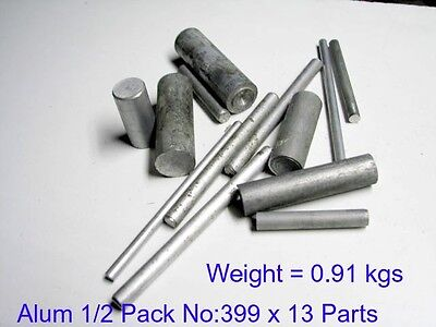 Aluminium 1/2 Pack No:399 x 13 Parts-Steam-Model Engineering-Mill