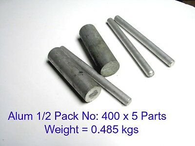 Aluminium 1/2 Pack No:400 x 5 Parts-Steam-Model Engineering-Mill