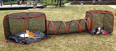 Cat tent pet dog enclosure fence home house run pop up folding set of 3 new