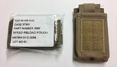 New USMC Marine Corps Speed Reload Magazine Mag Pouch Coyote Brown M16/M4