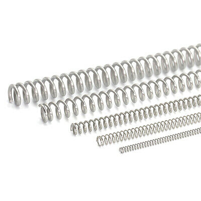 0.3mm-2.5mm Length 305mm Stainless Steel Spring Compression Pressure Springs