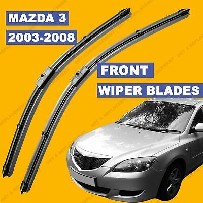 Side Pin Front set Wiper Blade For Mazda 3 Series 03-2008 53 54 55 56 57 58 reg