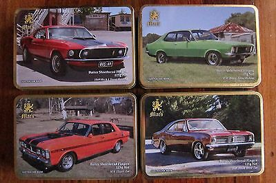 4 Macs Classic Car Biscuit Tins Made In Australia