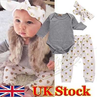 Unisex Newborn Baby Girl Clothes Outfits Set 0-3 Months Premature Romper Pants