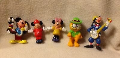 Vintage Lot Of Disney Applause Figures Goofy With Banjo Mickey & Minnie Mouse
